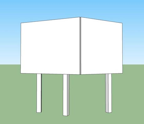 Tings Commons Kiosk elevation
