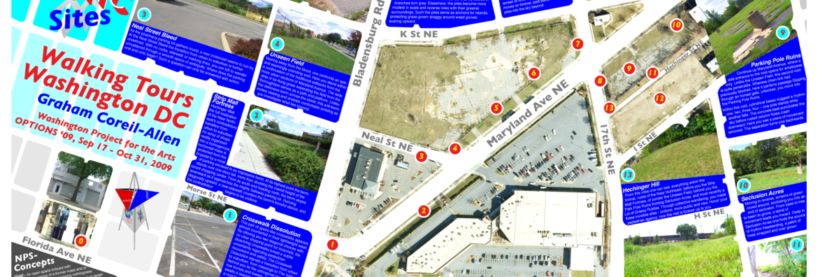 New Public Sites Waking Tours DC map