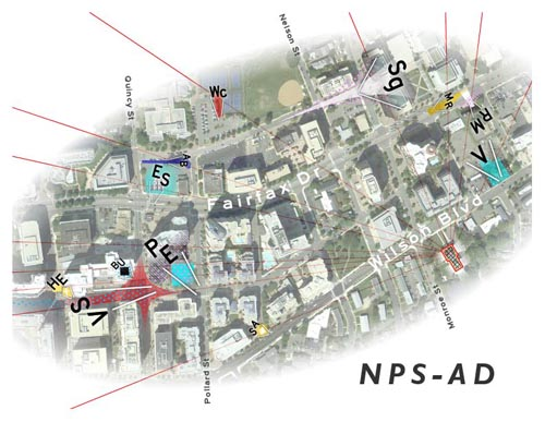 New Public Sites Arlington Drift map