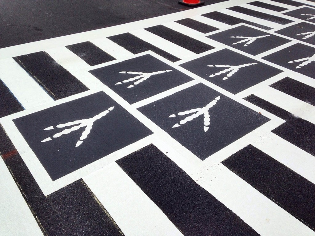 Hopscotch Crosswalk Colossus Birdtracks.JPG