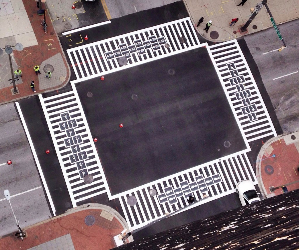 Hopscotch Crosswalk Colossus Overhead VIew Complete
