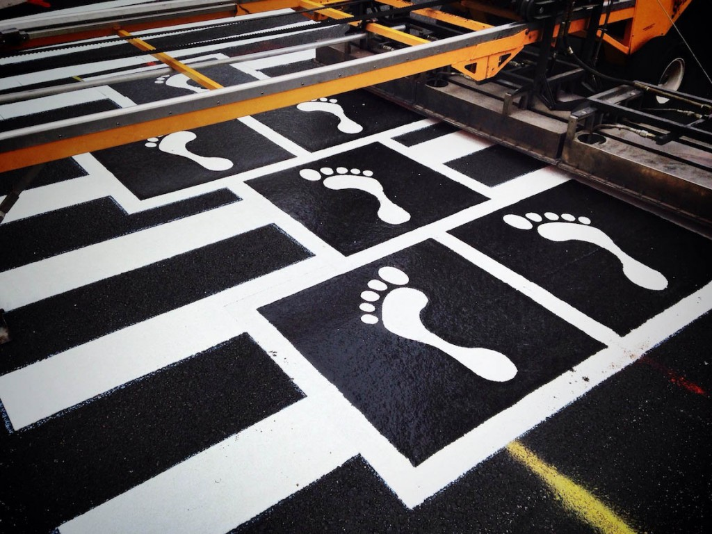 Hopscotch Crosswalk Colossus feet progress