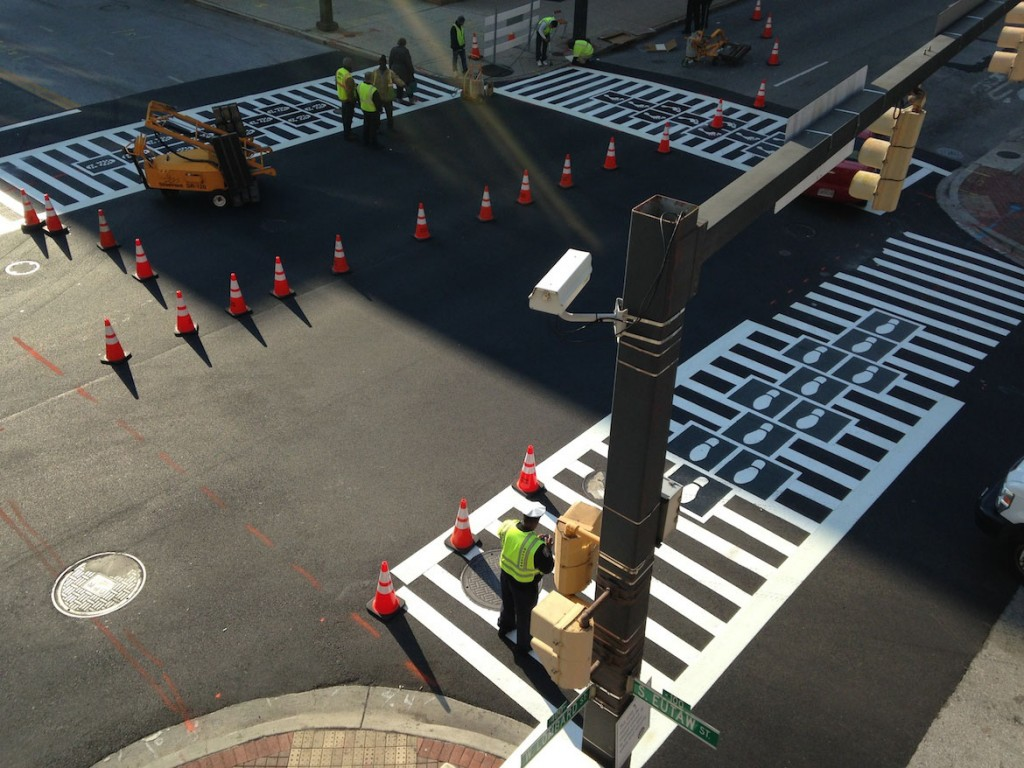 Hopscotch Crosswalk Colossus intersection progress