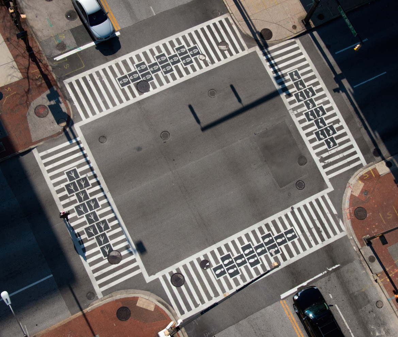 141231 Hopscotch Crosswalks Colossus - aerial view
