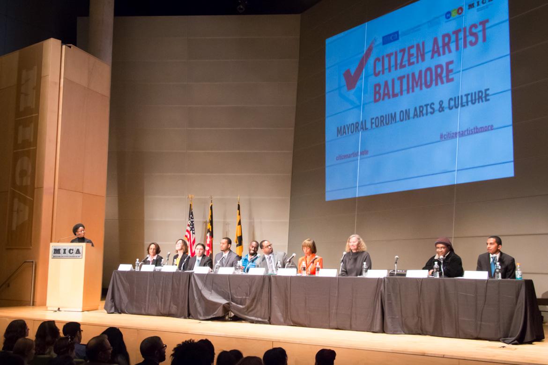 Citizen Artist Baltimore Mayoral Forum - CJay Philip