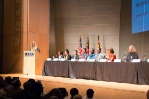 Citizen Artist Baltimore Mayoral Forum - candidates sitting on stage