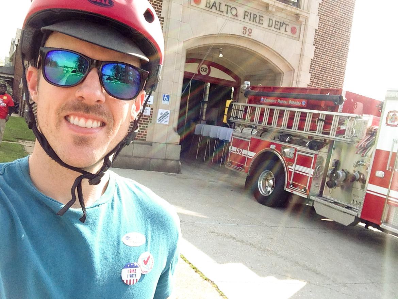 Graham Voting at Firehouse