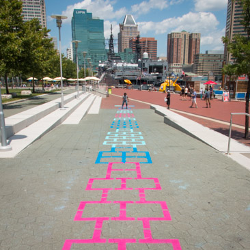 Harbor Hopscotch feature