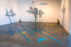 New Public Sites Five Points Denver map installation
