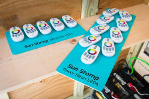 Sun Stomp opening LED controllers