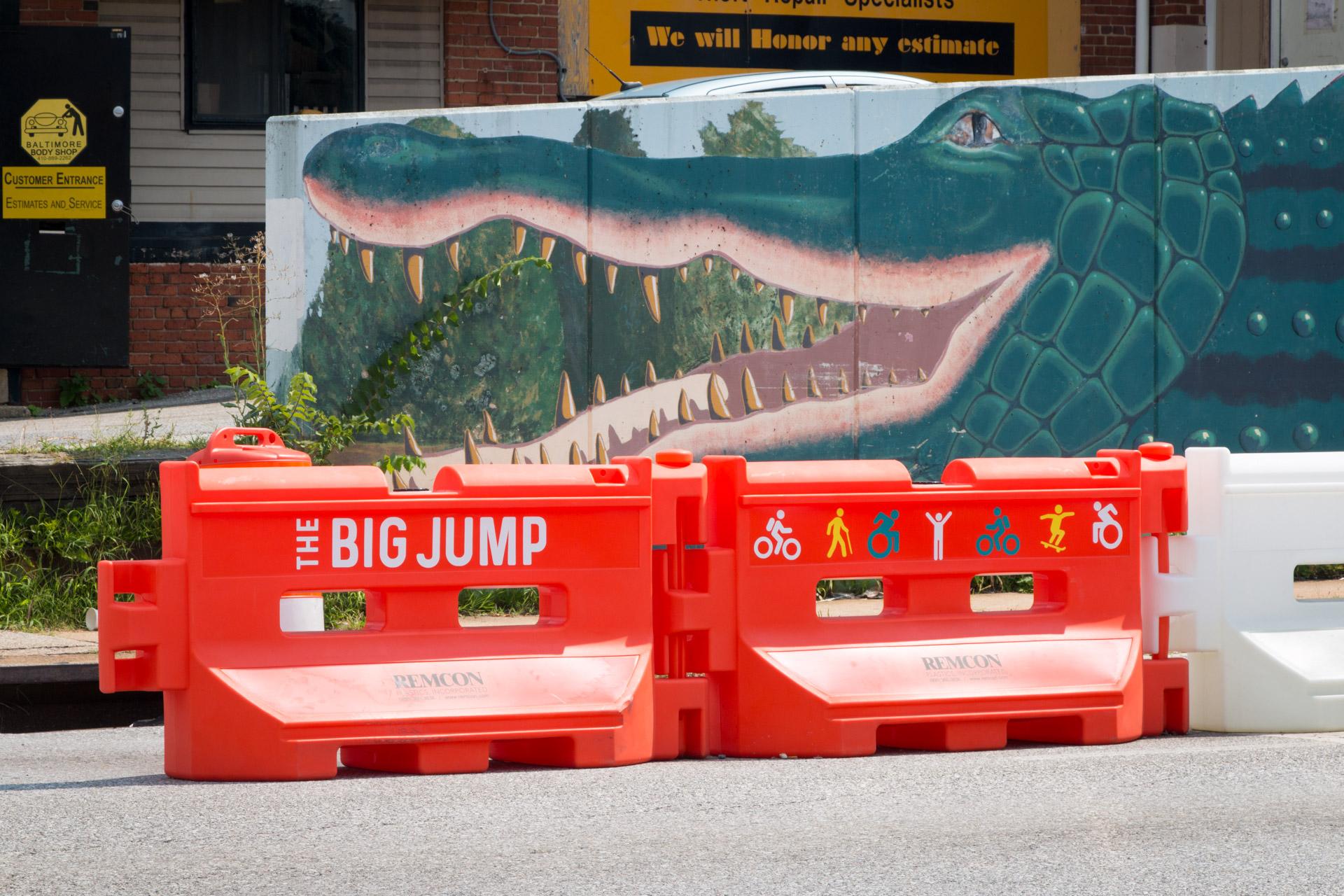 180816 Big Jump vinyl signage Remington