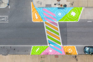 Reverberations Crosswalk aerial