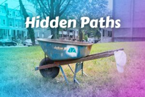 Hidden Paths Banner with wheelbarrow