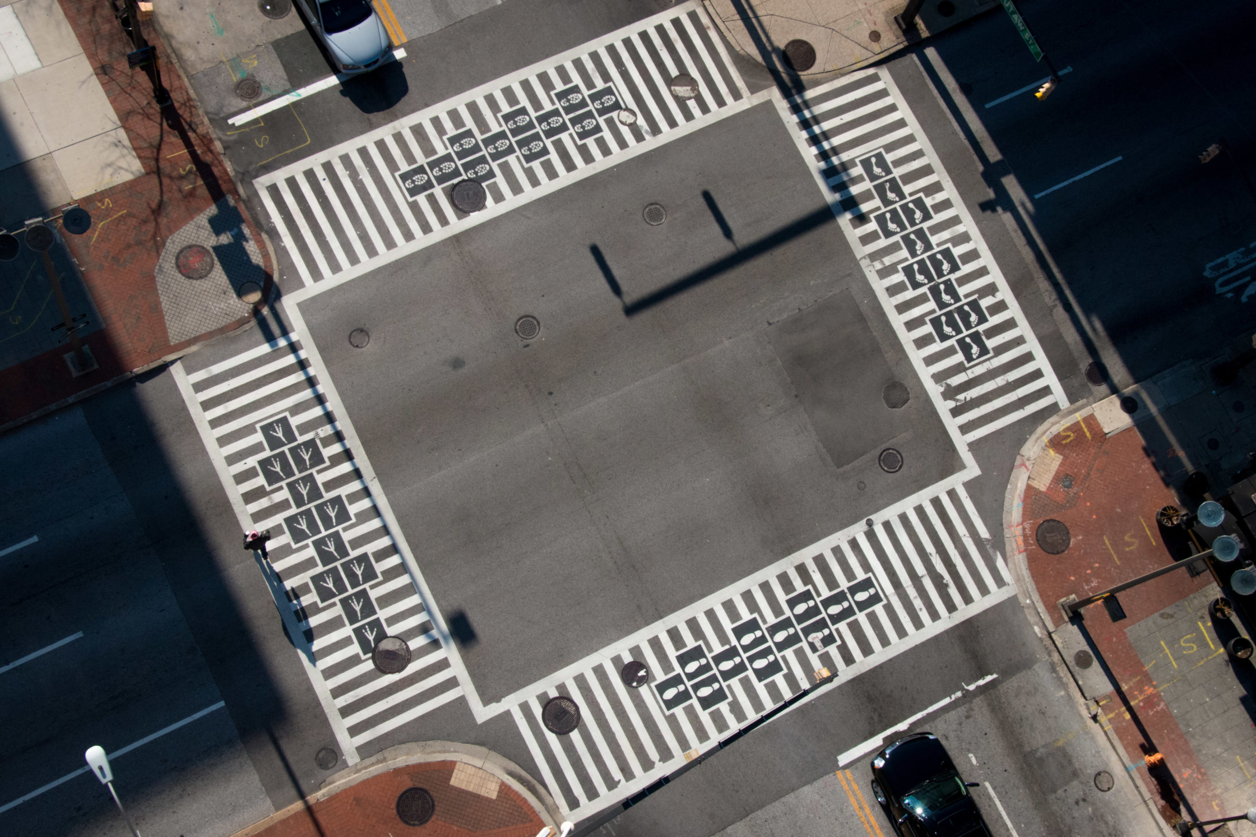 Hopscotch Crosswalk aerial