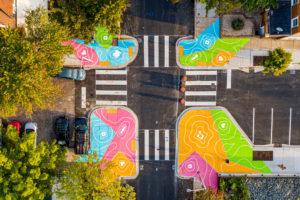 Reverberations Crosswalk 26th Calvert aerial