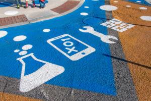 Barclay STEM Crosswalks detail