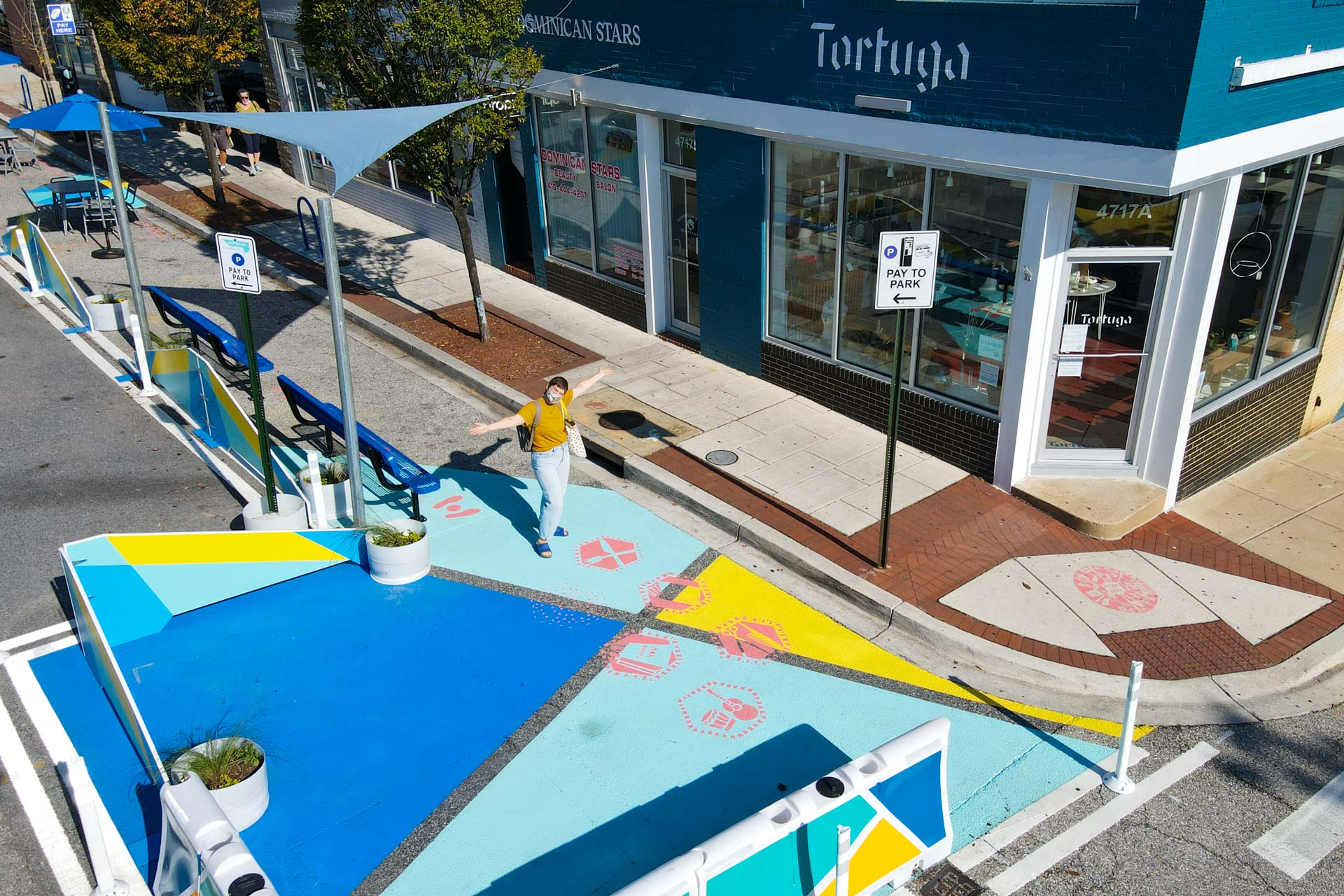 Curbside Commons Tortuga corner