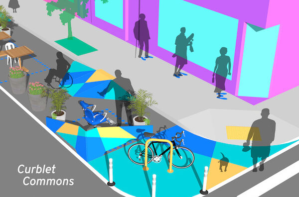 Design for Distancing Curblet Commons