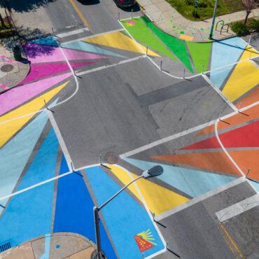 Whitelock Art Crosswalks Seasonal Turn