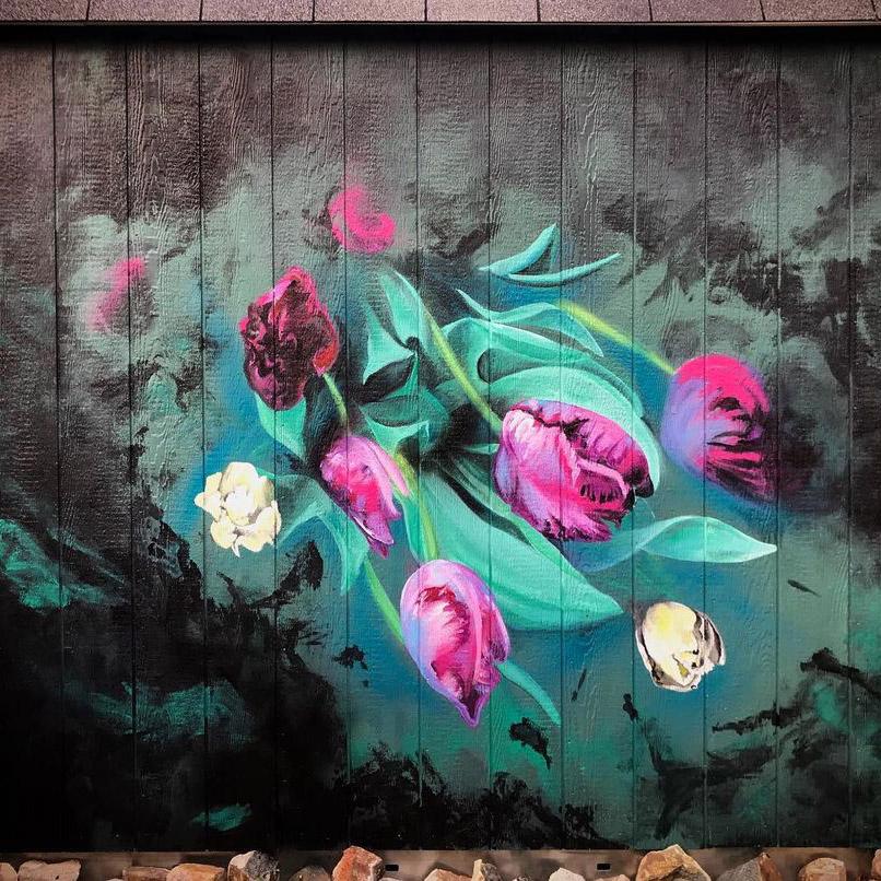 Stephanie Baker flower mural